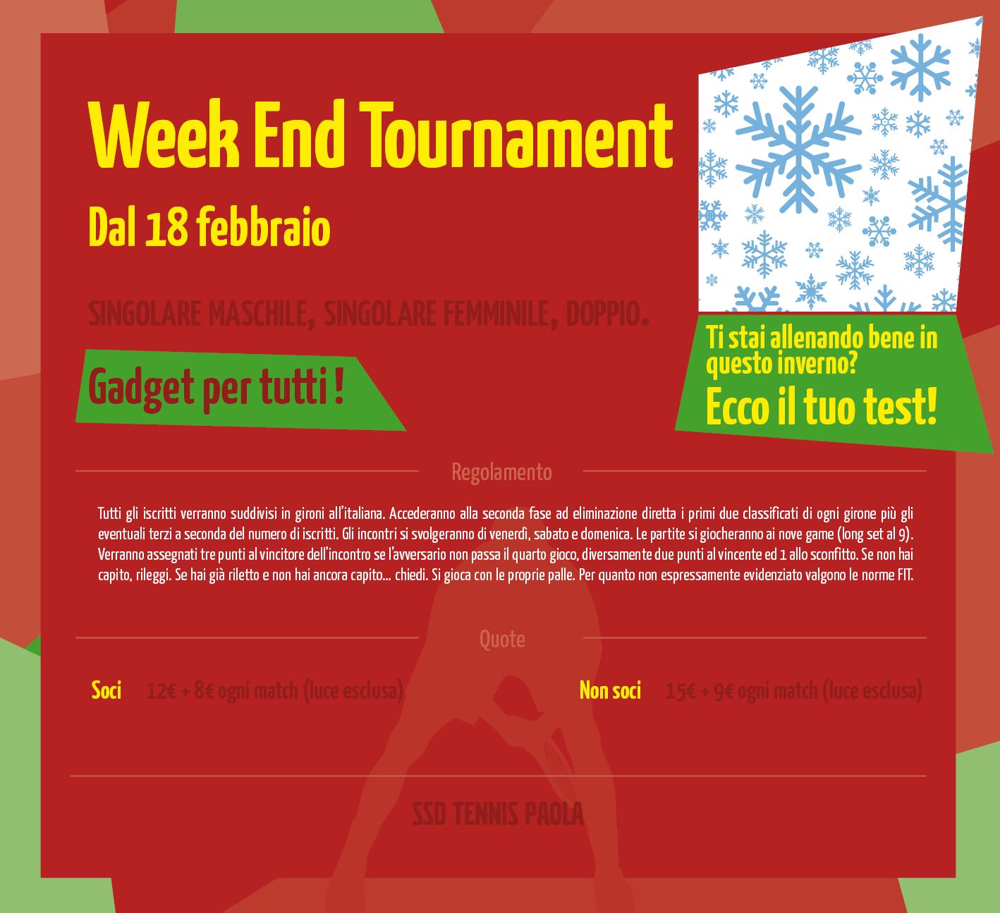 Week End Tournament 2017