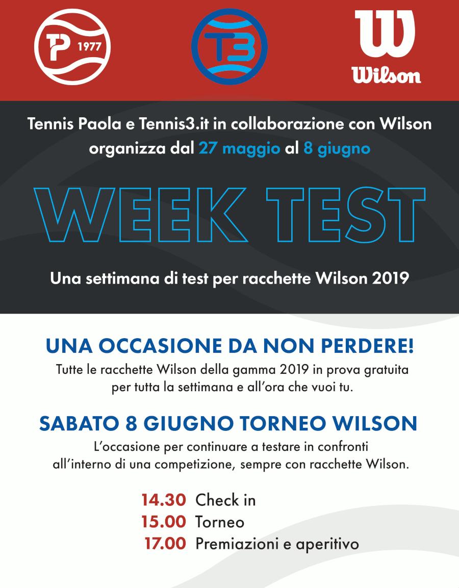 WEEK TEST WILSON 2019
