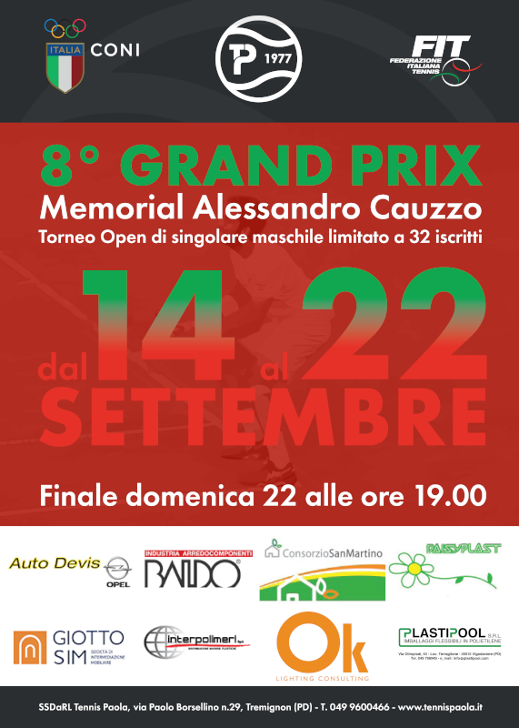 8° Grand Prix Memorial Alessandro Cauzzo